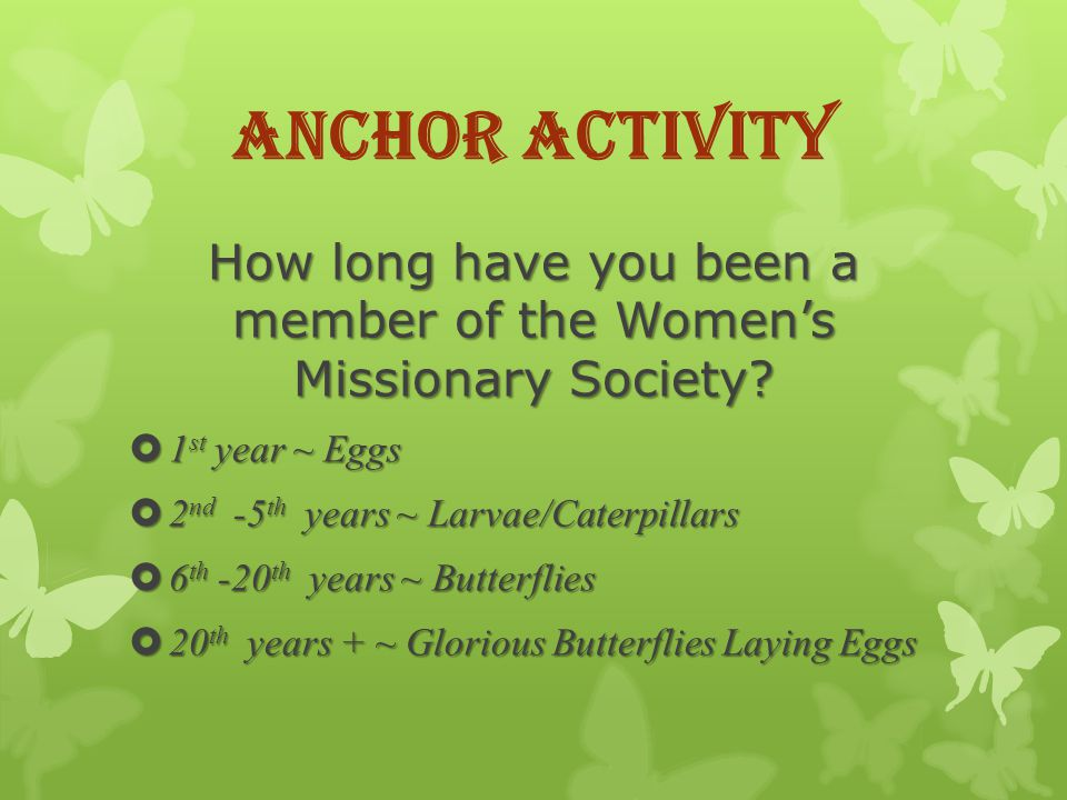 How long have you been a member of the Womens Missionary Society.