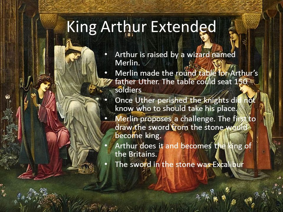 Arthur brings together the Britains.His reign was that of a well loved king.