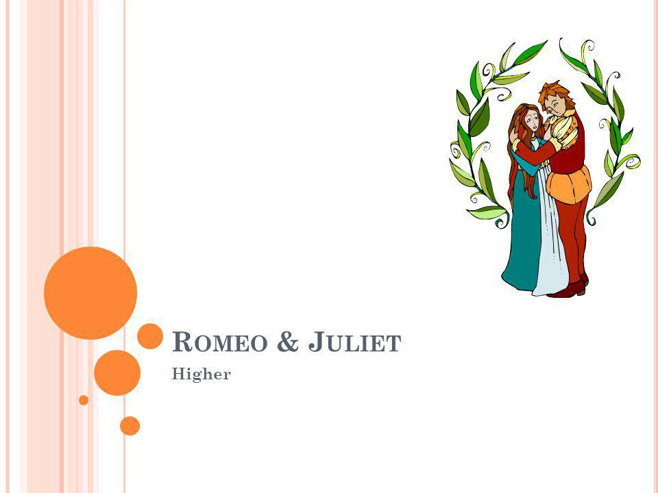 T HE F RIAR Discovers Romeo and Paris dead bodies Sees that Juliet is stirring, and urges her to leave with him or live in a monastery.