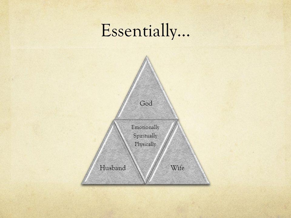 Essentially… GodHusband Emotionally Spiritually Physically Wife