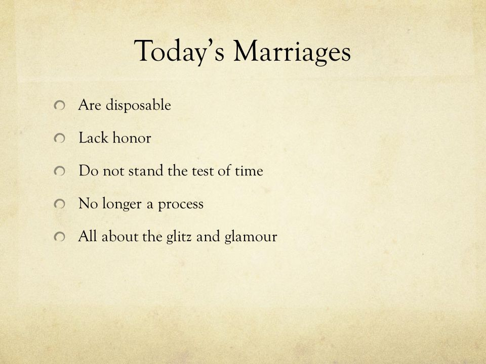 Decrease in Marriage