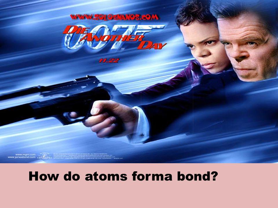 How do atoms forma bond?