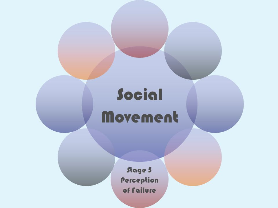 Social Movement Stage 5 Perception of Failure