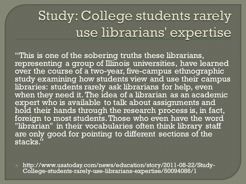 This is one of the sobering truths these librarians, representing a group of Illinois universities, have learned over the course of a two-year, five-c