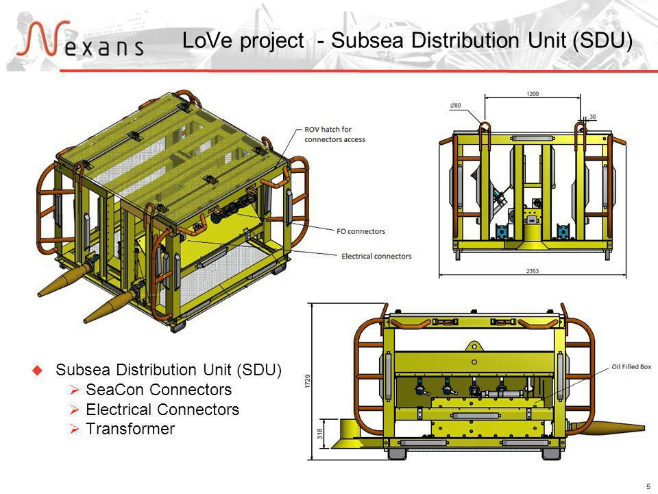 5 LoVe project - Subsea Distribution Unit (SDU) Subsea Distribution Unit (SDU) SeaCon Connectors Electrical Connectors Transformer