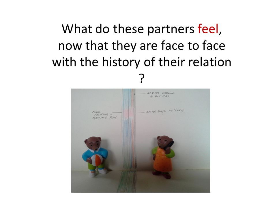 What do these partners feel, now that they are face to face with the history of their relation
