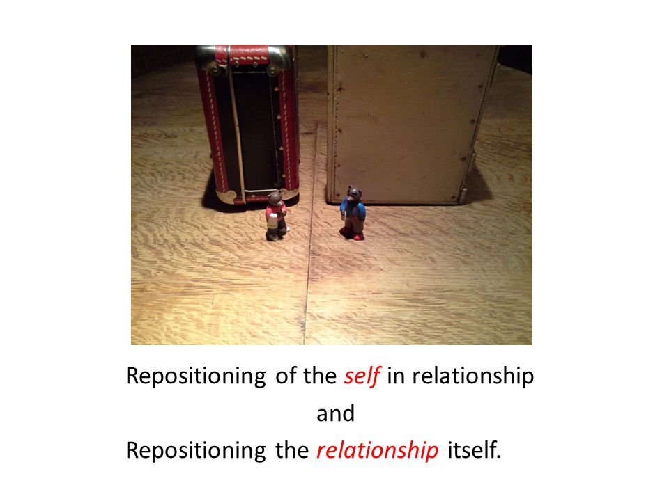 Repositioning of the self in relationship and Repositioning the relationship itself.