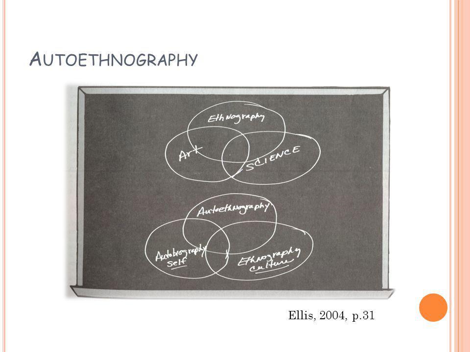 A UTOETHNOGRAPHY Ellis, 2004, p.31