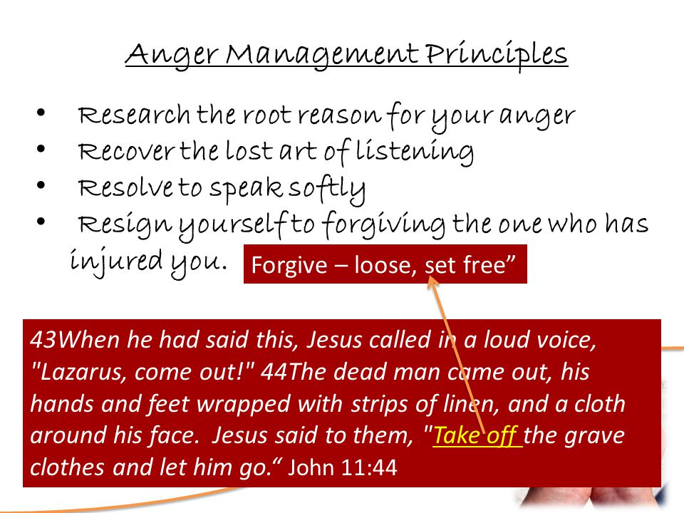 Love? How Deep is Your Anger Management Principles Research the root reason for your anger Recover the lost art of listening Resolve to speak softly R