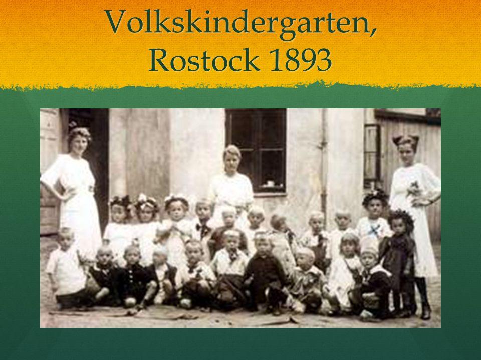 Volkskindergarten, Rostock 1893