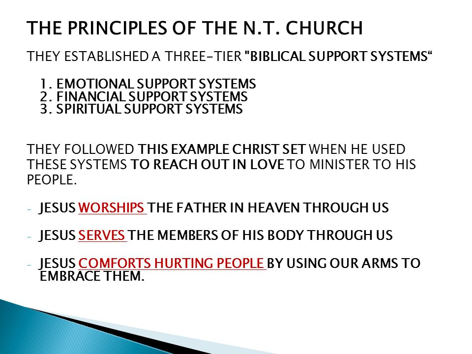 THE PRINCIPLES OF THE N.T. CHURCH THEY ESTABLISHED A THREE-TIER