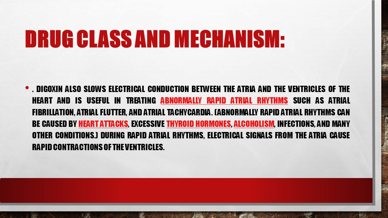 DRUG CLASS AND MECHANISM:.