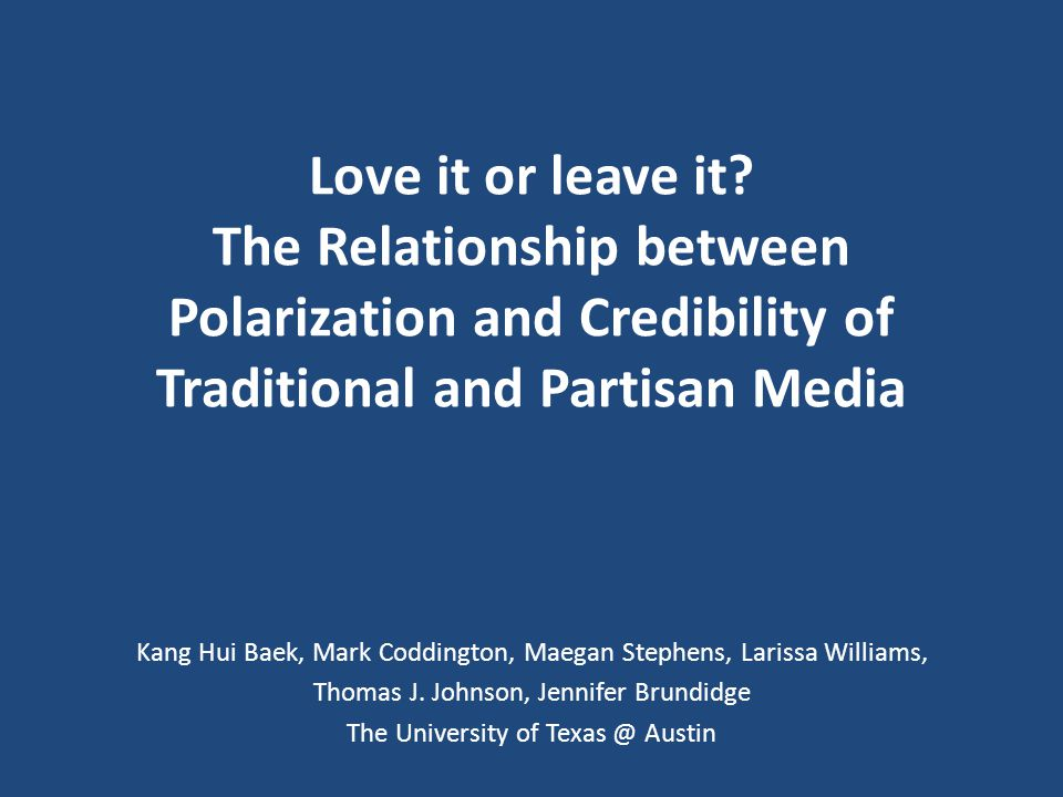 DISCUSSION Why do the credibility perception of the liberal news source corresponded to polarization levels but the conservative news source does not.