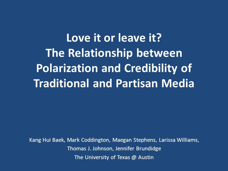 BACKGROUND Selective Exposure & Polarization Selective Exposure & Credibility