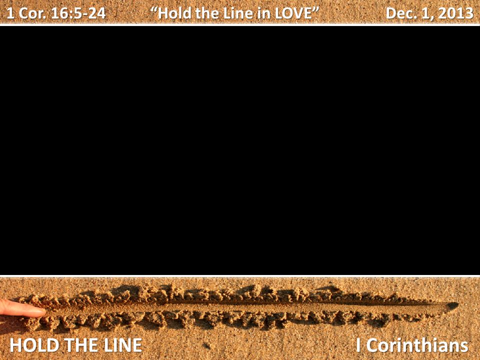 HOLD THE LINE I Corinthians 1 Cor.
