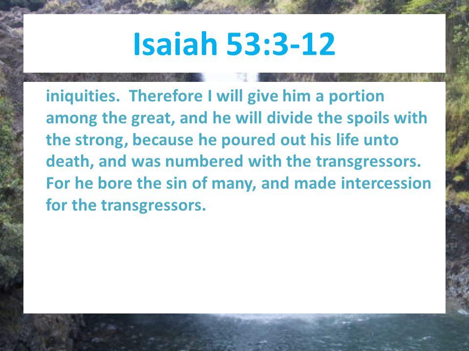 Isaiah 53:3-12 iniquities.