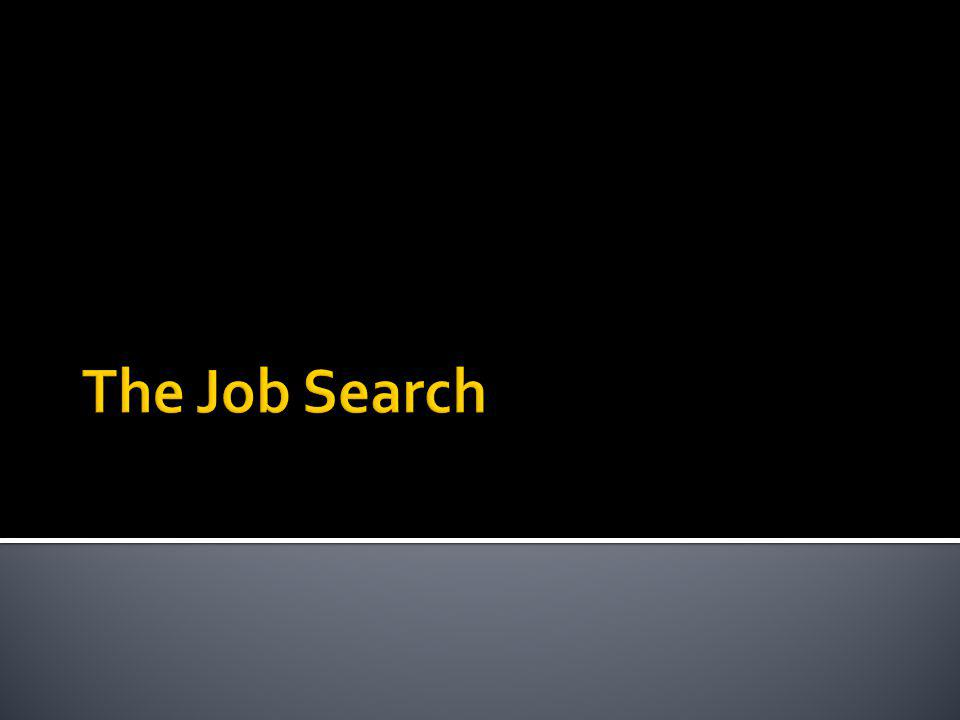 Historical Job Search Traditional Job Search Methods Networking The Better Way: Own the Process