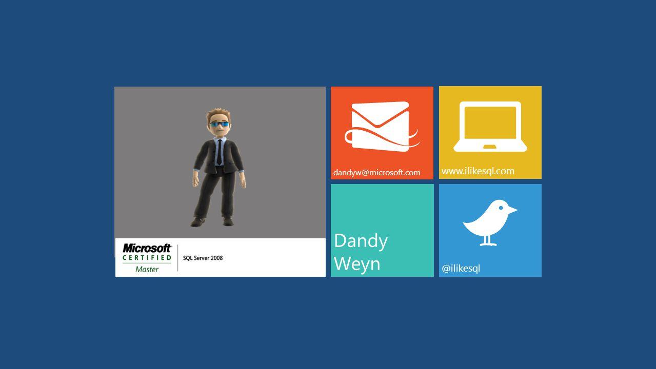 Dandy Weyn dandyw@microsoft.com www.ilikesql.com @ilikesql
