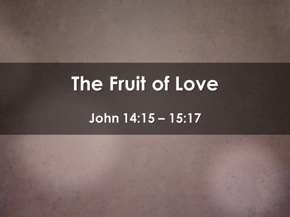 There is the necessity that we cultivate the life of Jesus in us so that we might bear fruit.