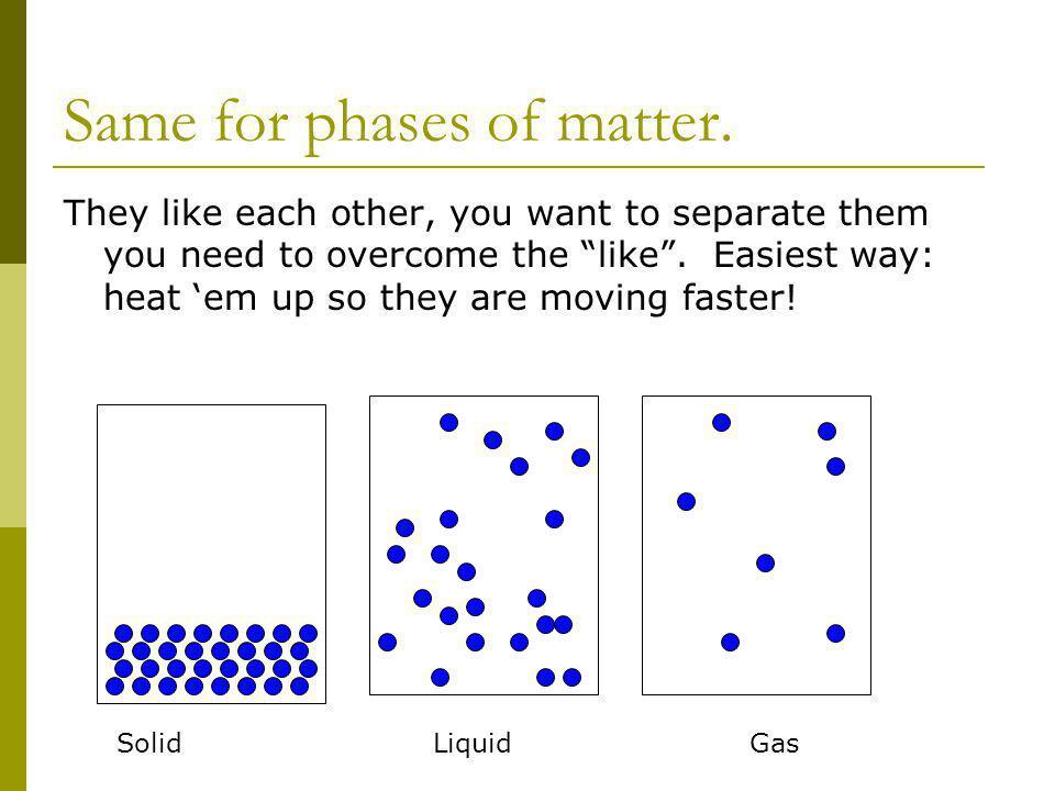 Same for phases of matter.