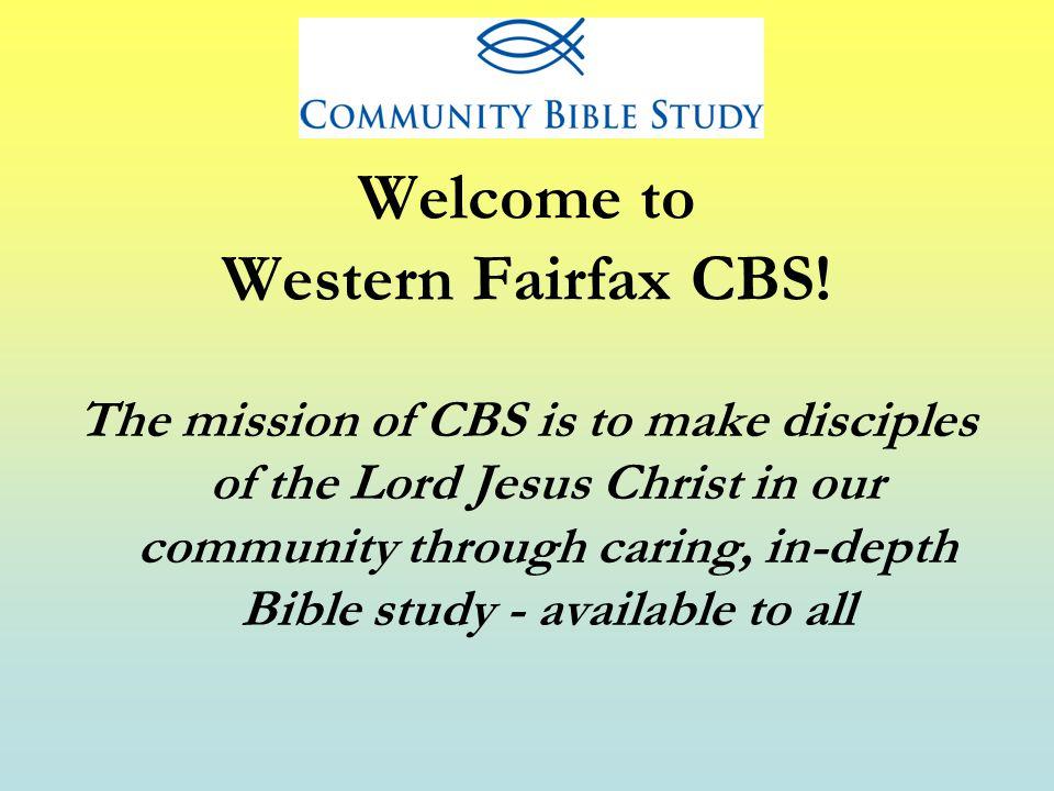 Welcome to Western Fairfax CBS.