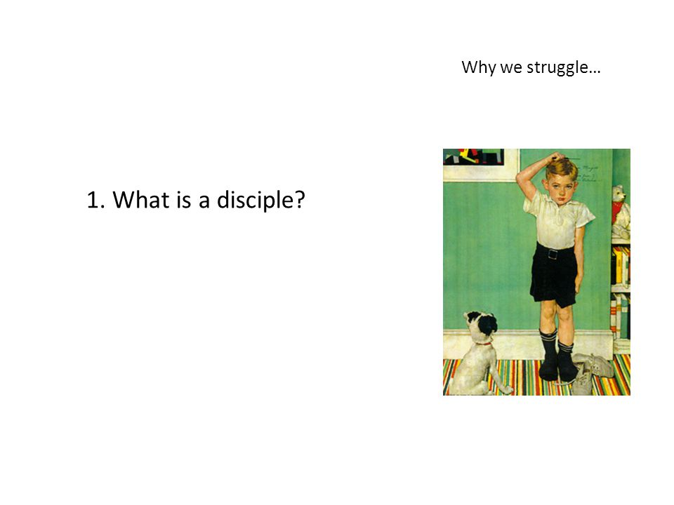 Why we struggle… 1. What is a disciple