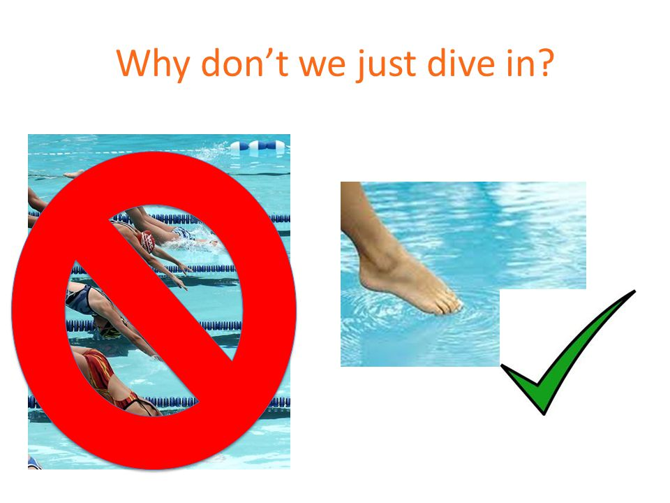 Why dont we just dive in