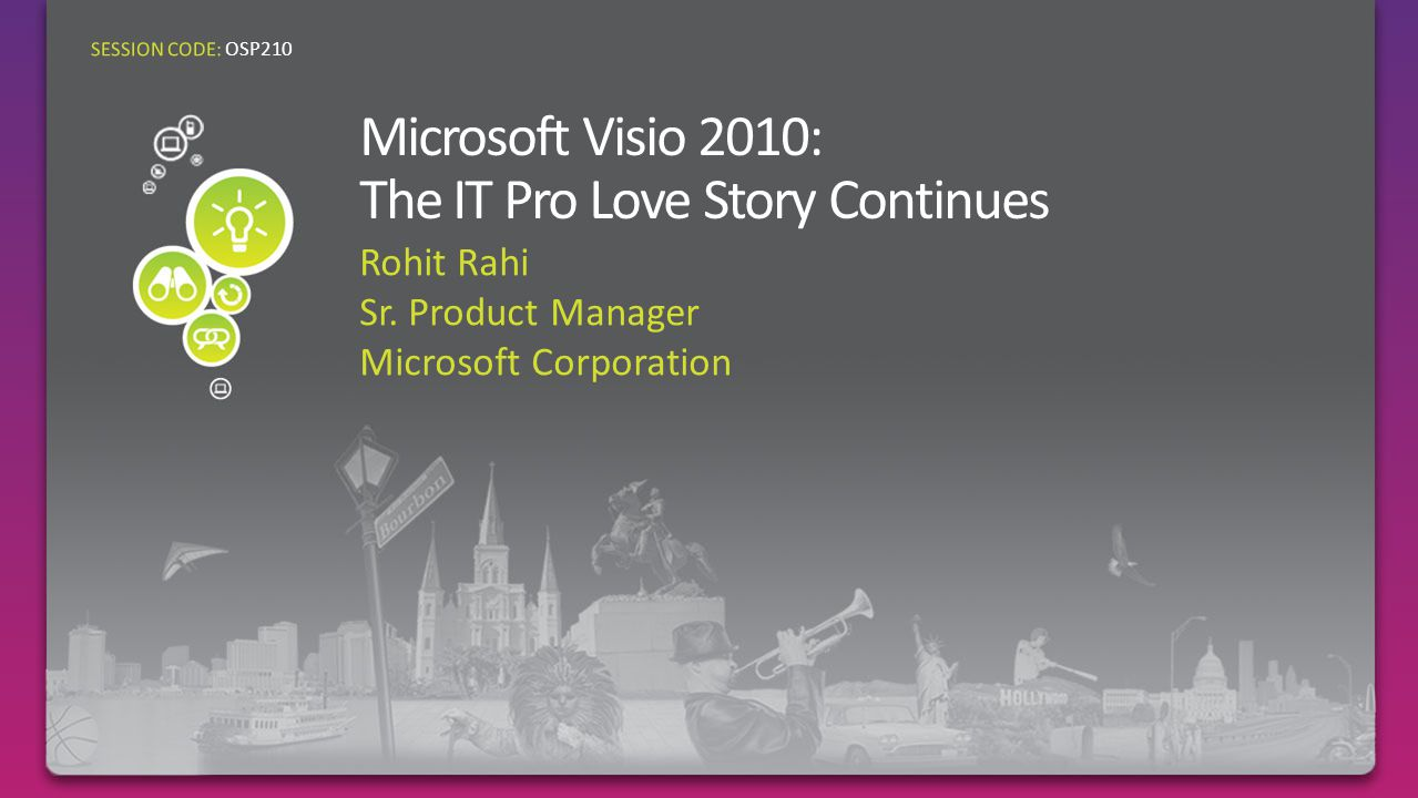 Rohit Rahi Sr. Product Manager Microsoft Corporation SESSION CODE: OSP210