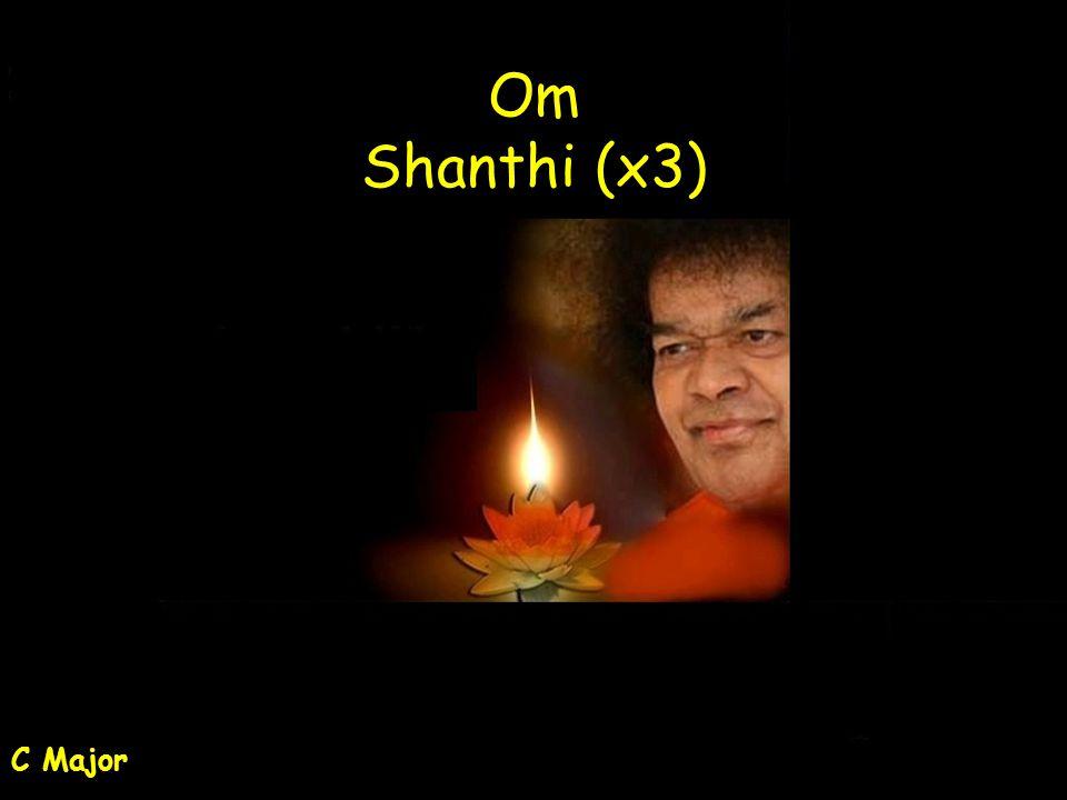 Om Shanthi (x3) C Major