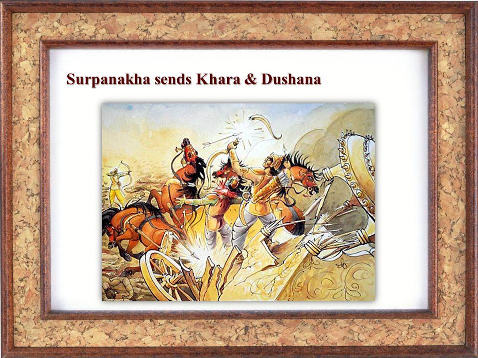 Surpanakha sends Khara & Dushana
