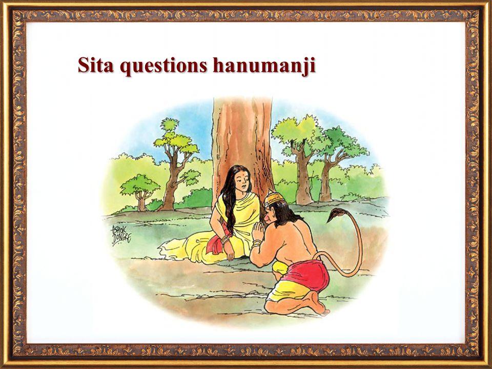Sita questions hanumanji