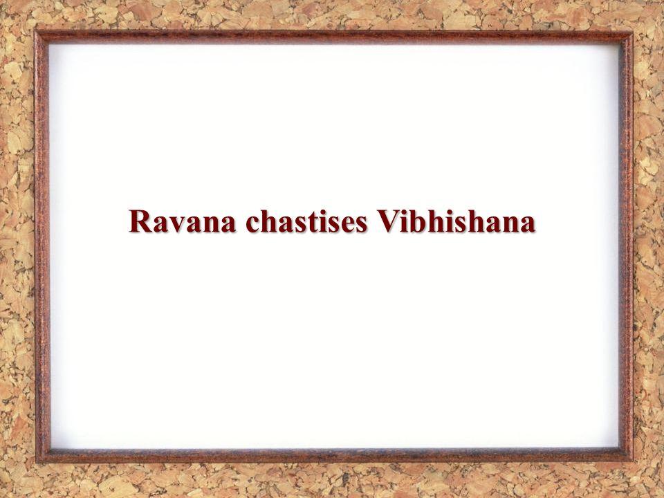 Ravana chastises Vibhishana