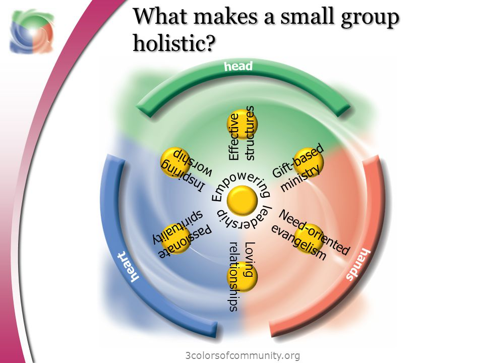 What makes a small group holistic.