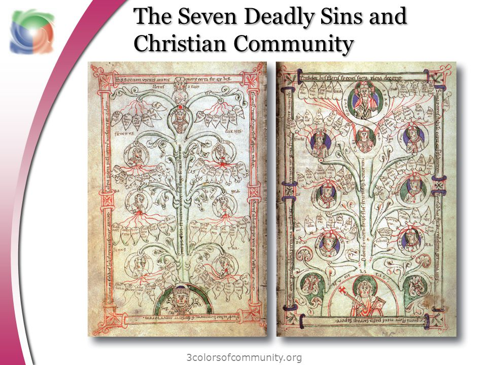 The Seven Deadly Sins and Christian Community 3colorsofcommunity.org