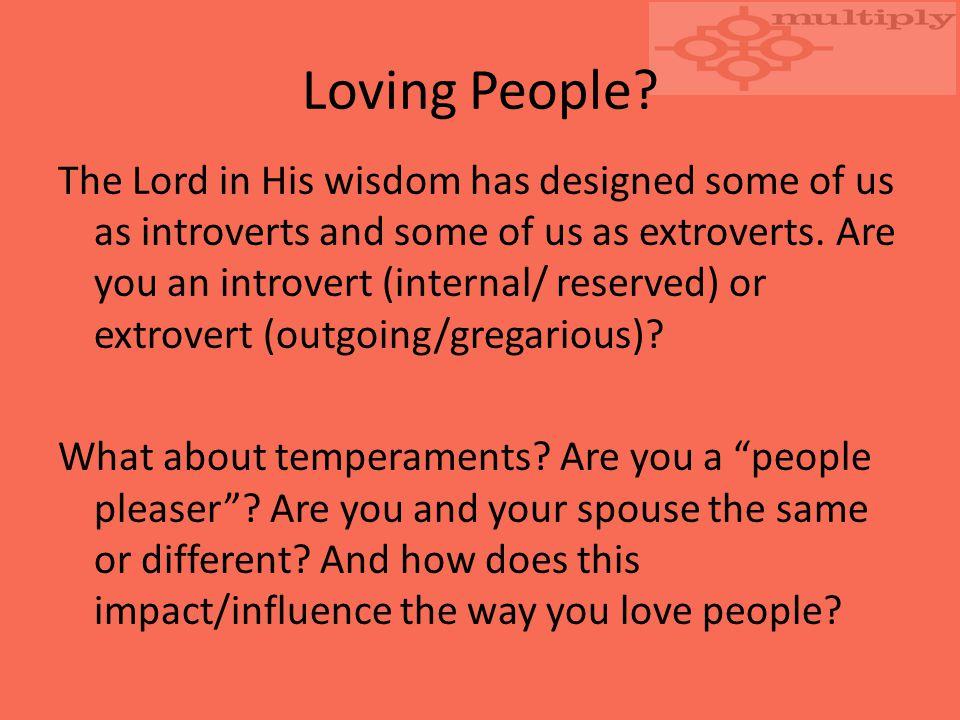 Loving People.