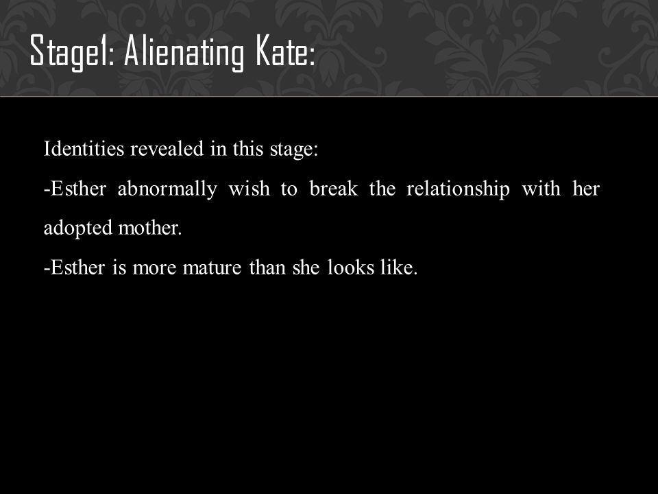 Evidence 5: Seducing John Kate discovers the true identity of Esther: Esther is actually a 33-year-old woman named Leena Klammer.
