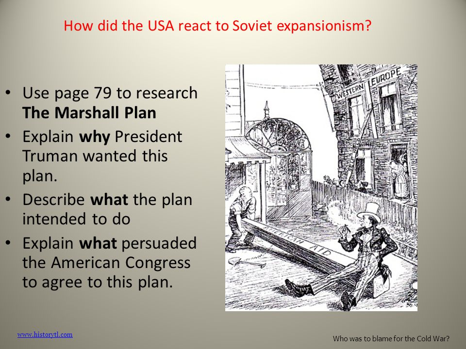 How did the USA react to Soviet expansionism.
