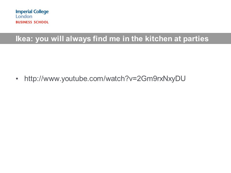Ikea: you will always find me in the kitchen at parties http://www.youtube.com/watch?v=2Gm9rxNxyDU