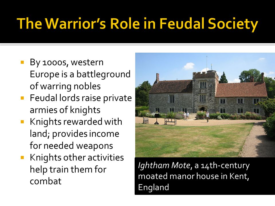 By 1000s, western Europe is a battleground of warring nobles Feudal lords raise private armies of knights Knights rewarded with land; provides income