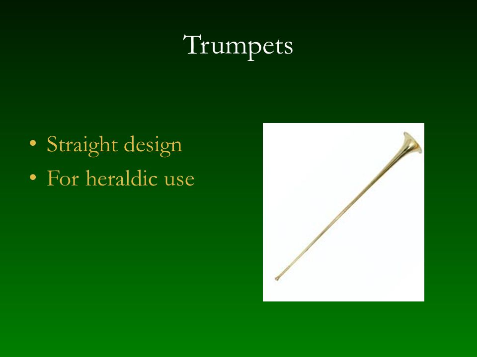 Trumpets Straight design For heraldic use