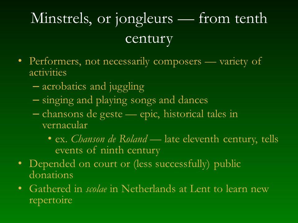 Medieval songs in Spain Occitan influence in northern Spain until ca.