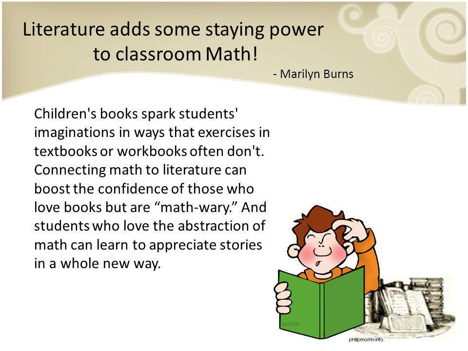Why Use Childrens Books to Teach Math.