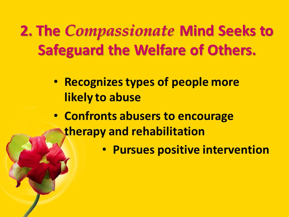 2. The Compassionate Mind Seeks to Safeguard the Welfare of Others.