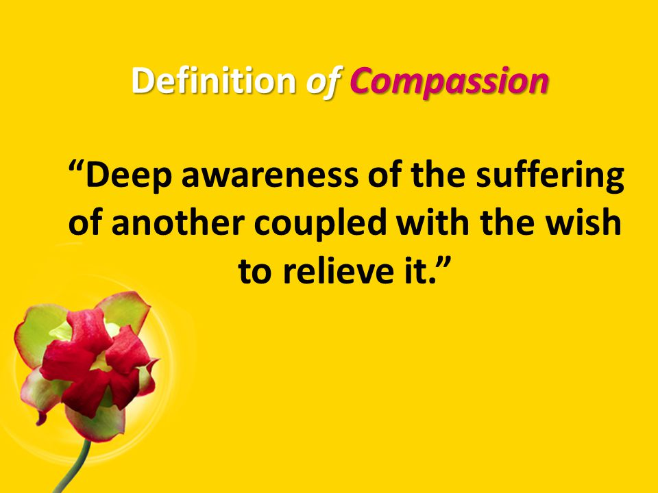 A compassionate mind is alert to the needs of others.