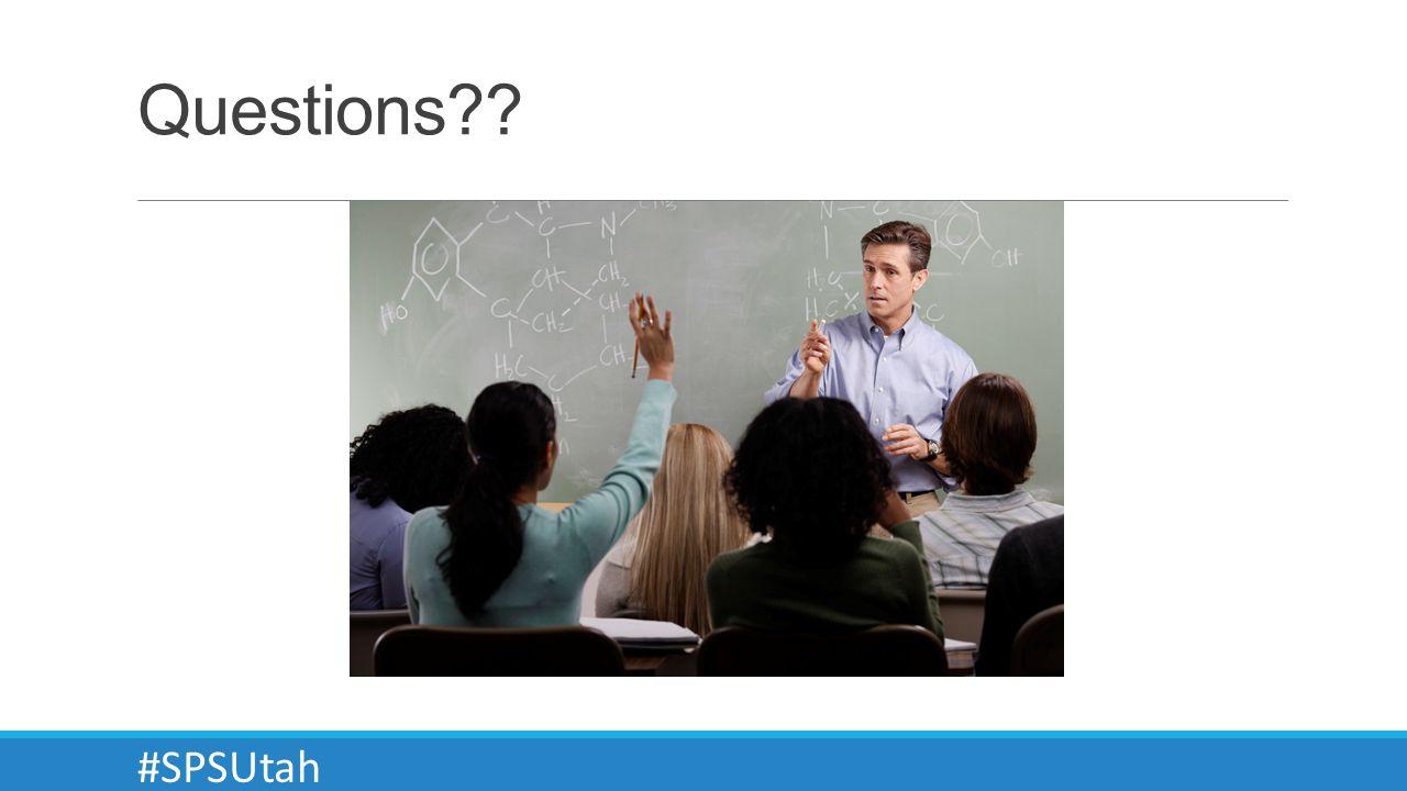 Questions #SPSUtah