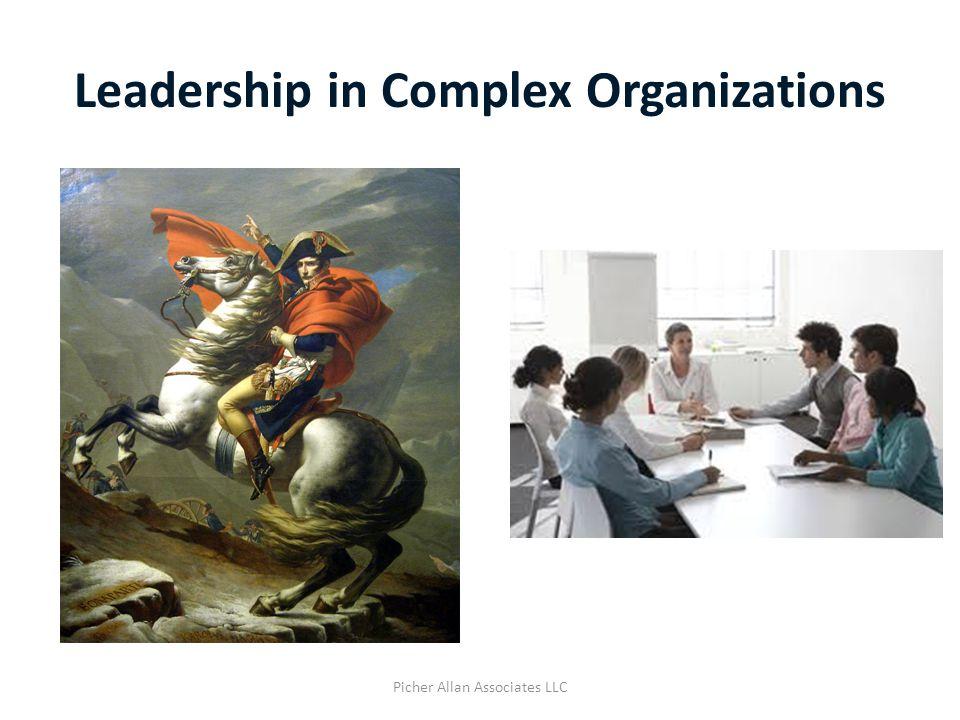 Leadership in Complex Organizations Picher Allan Associates LLC