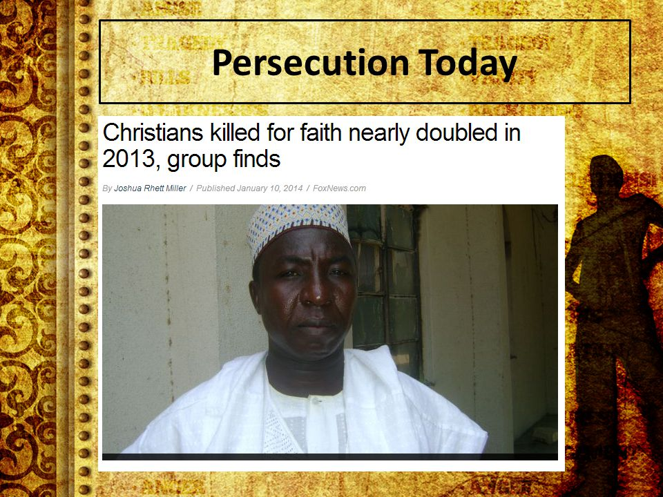 Persecution Today