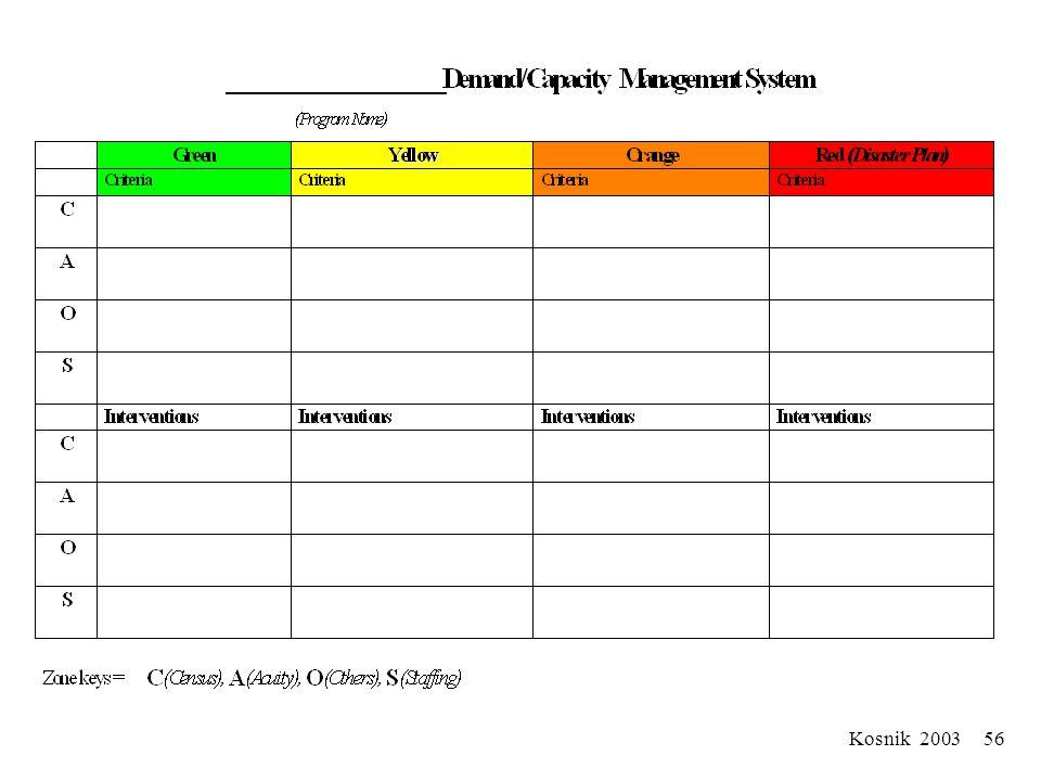 Kosnik 2003 55 RED Interventions Use Institutional Disaster Plan