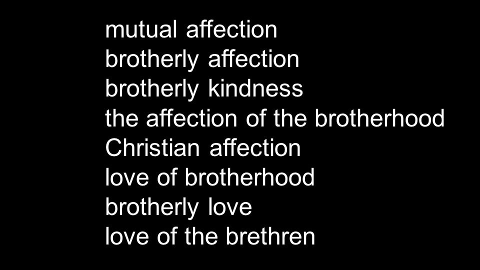 Greek philadelphian from: phílos = beloved, dear, friendly + adelphós = brother