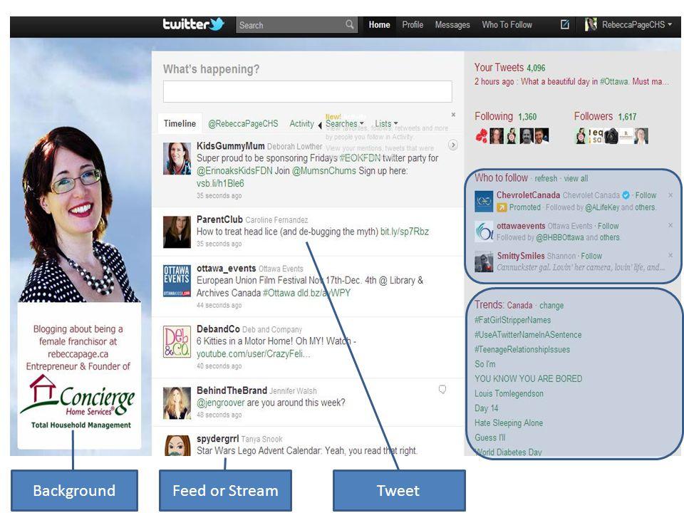 Background Feed or Stream Tweet